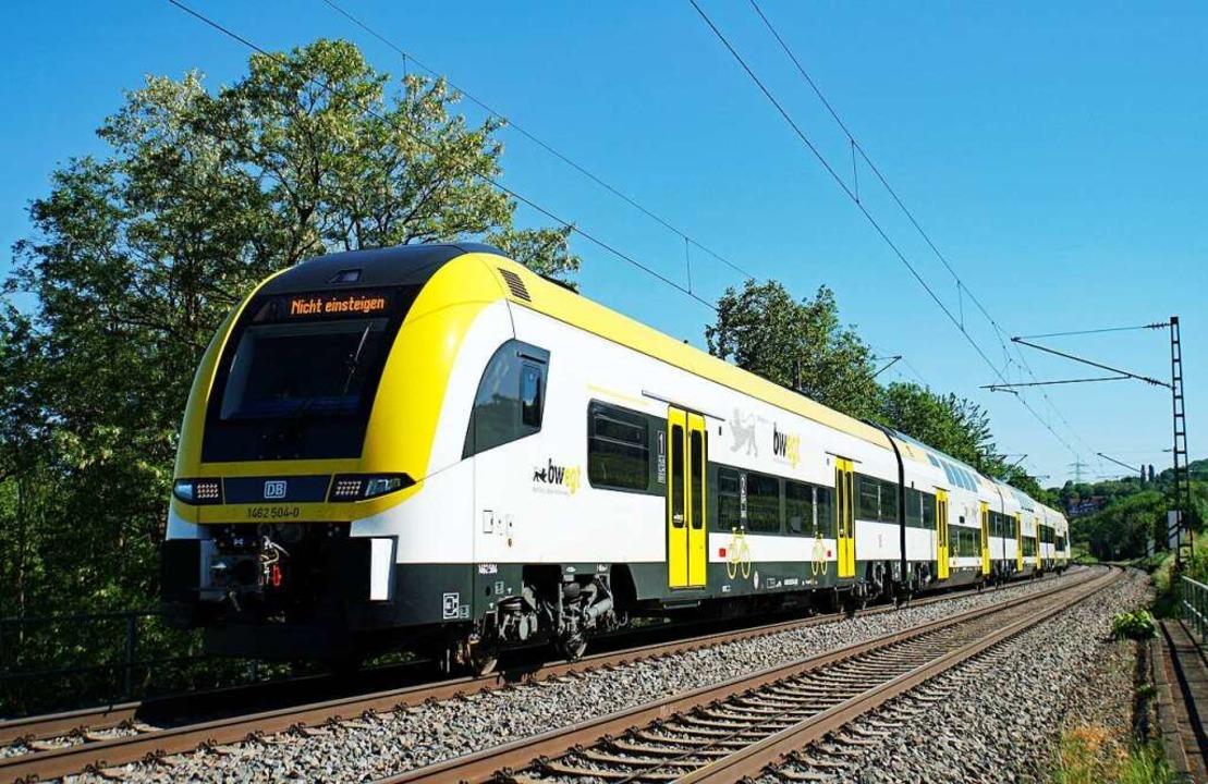 Der neue Desiro auf Probefahrt im Rheintal  | Foto: Heinz Göttlich