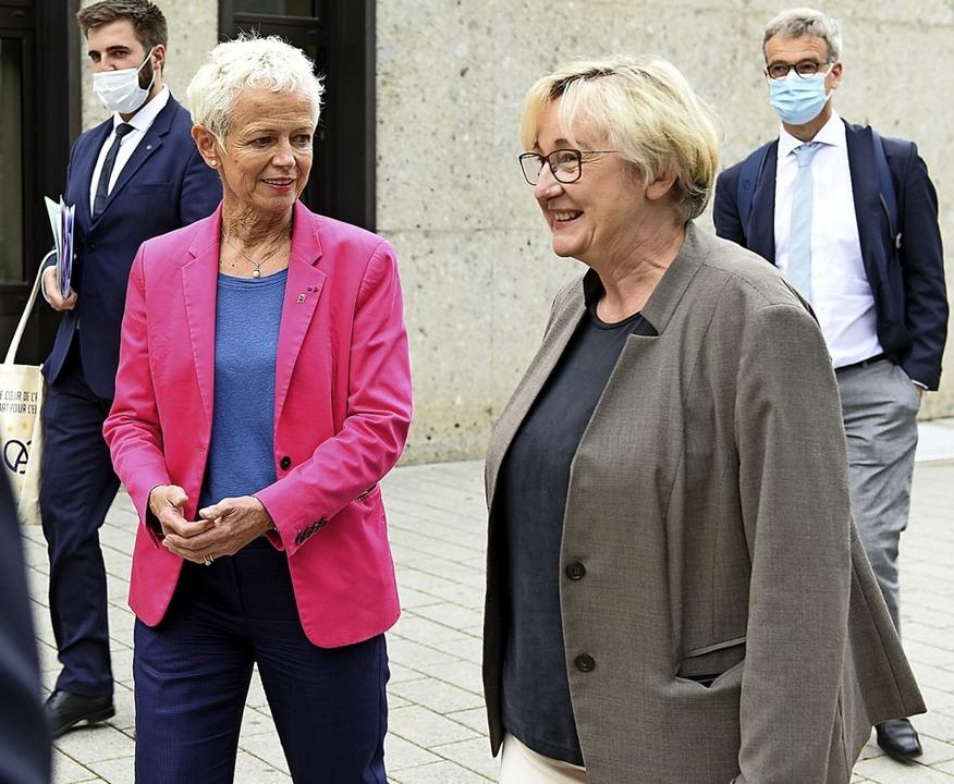 Départements-Präsidentin Brigitte Klin...icht wieder. <BZ-Keyword></BZ-Keyword>  | Foto: Rita Eggstein