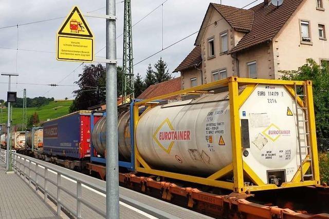 Efringen-Kirchen und Bad Bellingen fordern Puffergleise für Gefahrgutzüge