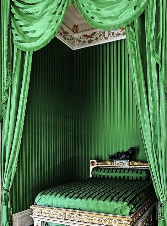 Was für ein Grün! Das Schlafzimmer der Fürstin  | Foto: Jan Woitas (dpa)