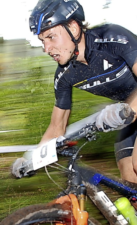 Organisator Simon Stiebjahn lässt es s...s auch beim eigenen Rennen zu starten.  | Foto: Ruoff