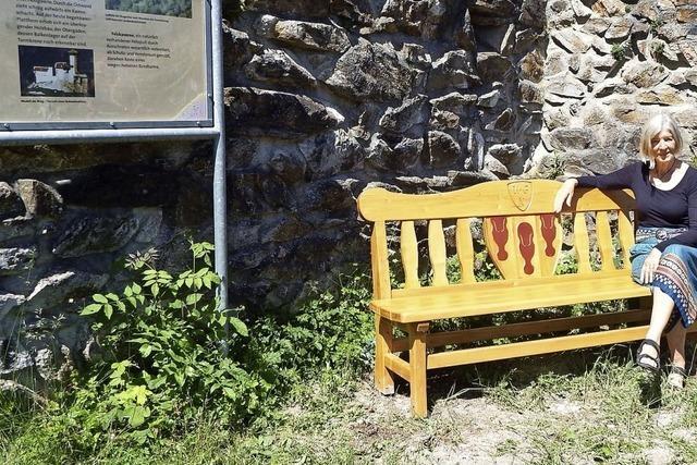 Ein Ruheplatz für die Burgbesucher