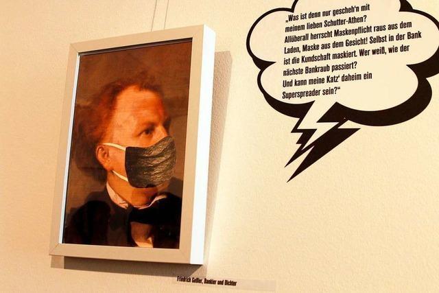 Ausstellung im Stadtmuseum zeigt historische Persönlichkeiten mit Corona-Masken