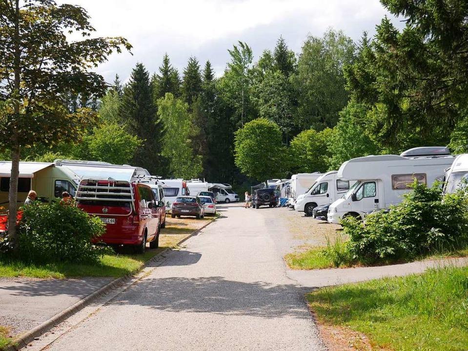 Der Campingplatz Wolfsgrund ist seit Pfingsten ausgebucht.  | Foto: Eva Korinth