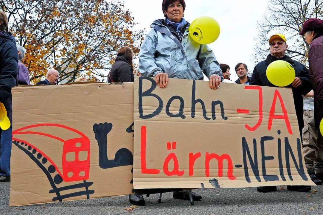 Einmal mehr beschäftigte sich der Hoch...Protest in Hochdorf 2010 (Archivbild).  | Foto: Michael Bamberger