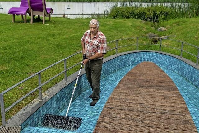 Wassertretbecken im Skulpturenpark in Grafenhausen ist wieder freigegeben