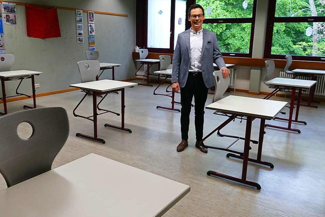 Schulleiter Timo Pilz spricht von einem guten Start.  | Foto: Victoria Langelott