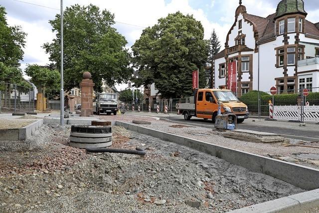 Baustelle in der Lotzbeckstraße