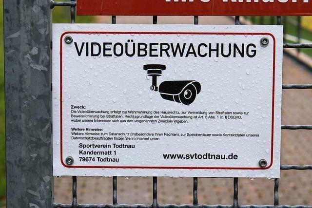 Versteckte Kamera filmt Eindringlinge beim SV Todtnau