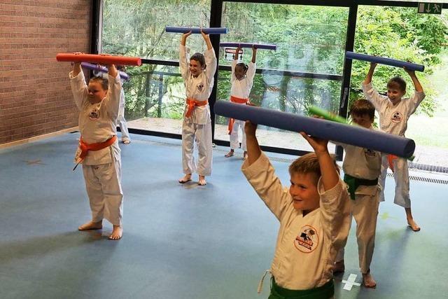 Erstes Karatetraining der Samurai-Kids Bad Bellingen seit Corona