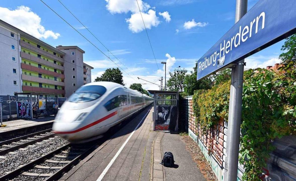 ICEs halten in Freiburg-Herdern genere...ie meisten Regionalbahnen hier vorbei.  | Foto: Michael Bamberger