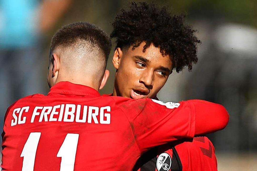 Guillaume Furrer (l.) und Kevin Schade spielen künftig in der U23 des SC.  | Foto: Patrick Seeger