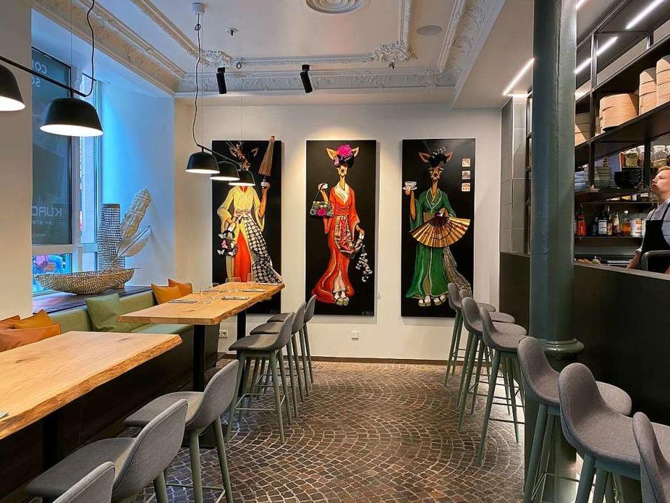 Schlichtes Design trifft auf regionale...atisch angehauchte Kunst im Kuro Mori.  | Foto: Anika Maldacker