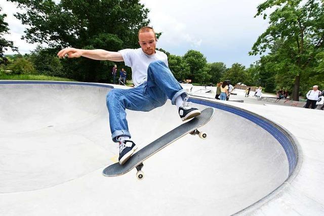 Im Skatepark im Dietenbachpark gibt's jetzt einen Pool wie in Kalifornien
