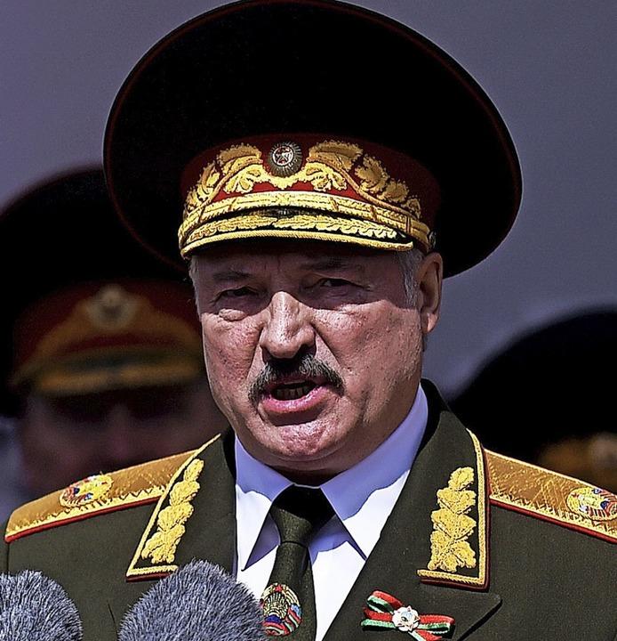 Alexander Lukaschenko gilt als letzter Diktator Europas   | Foto: Sergei Gapon (dpa)