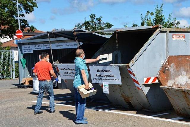 Chaos auf dem Recyclinghof in Rheinfelden hat sich gelegt