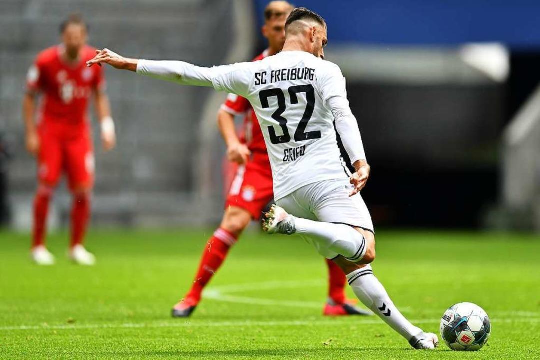 Vincenzo Grifo im Spiel gegen die Bayern.    Foto: Achim Keller/SCFreiburg