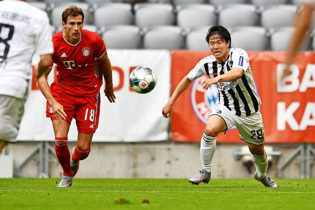 Belebendes Element im Freiburg Spiel: Kwon, hier gegen Goretzka.    Foto: Achim Keller/SCFreiburg