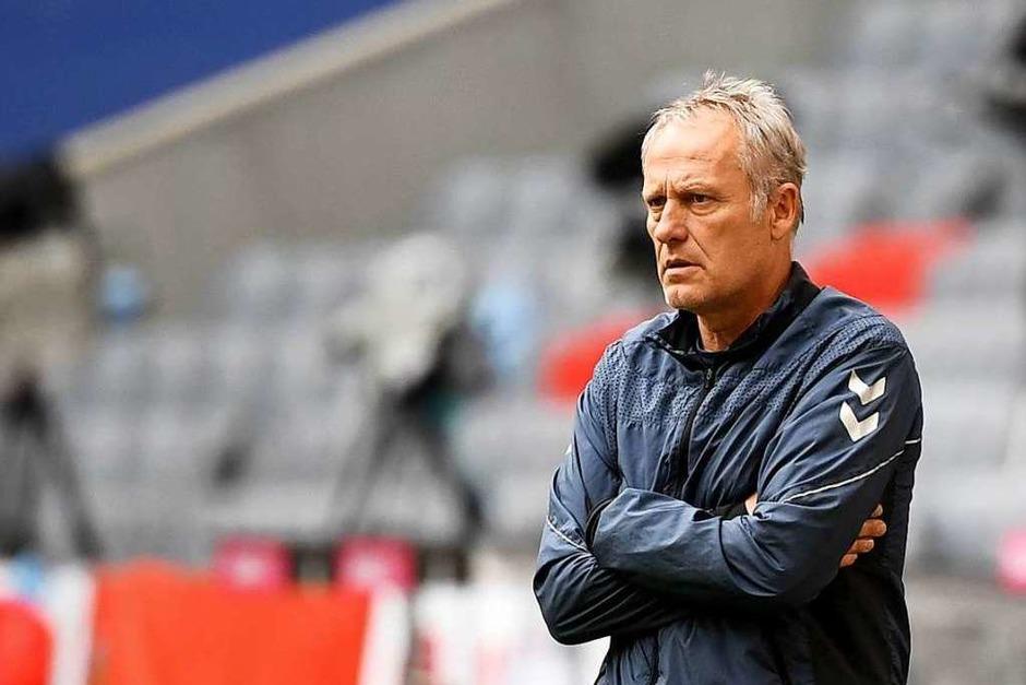 Gegen den FC Bayern München verliert der SC Freiburg mit 1:3 und verpasst wegen der Ergebnisse der Konkurrenz die Europa League. Die Bilder zum Spiel. (Foto: Sven Hoppe (dpa))