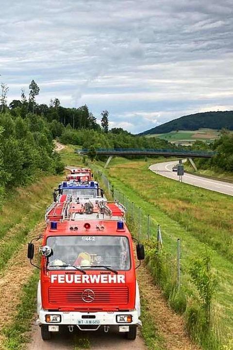 487 Einsatzkräfte und Privatpersonen h...hrigen aus Laufenburg-Hochsal gesucht.  | Foto: Feuerwehr Laufenburg