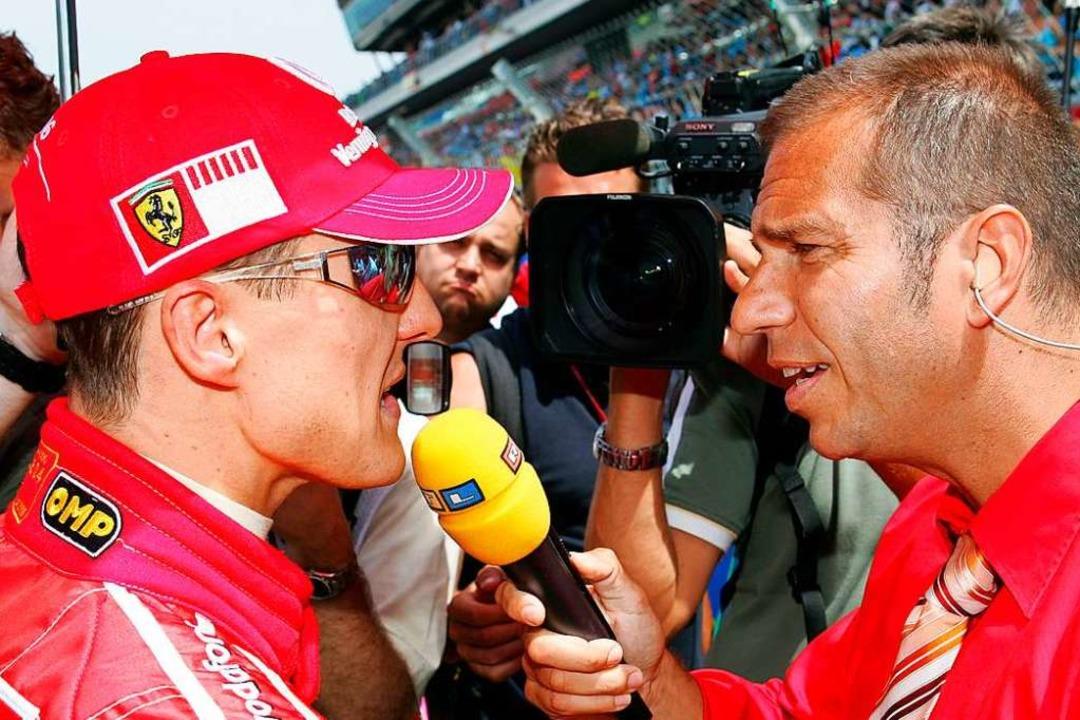 Das waren noch Zeiten: Ferrari -Fahrer...Sender auf die Übertragung der Rennen.  | Foto: Gero Breloer (dpa)