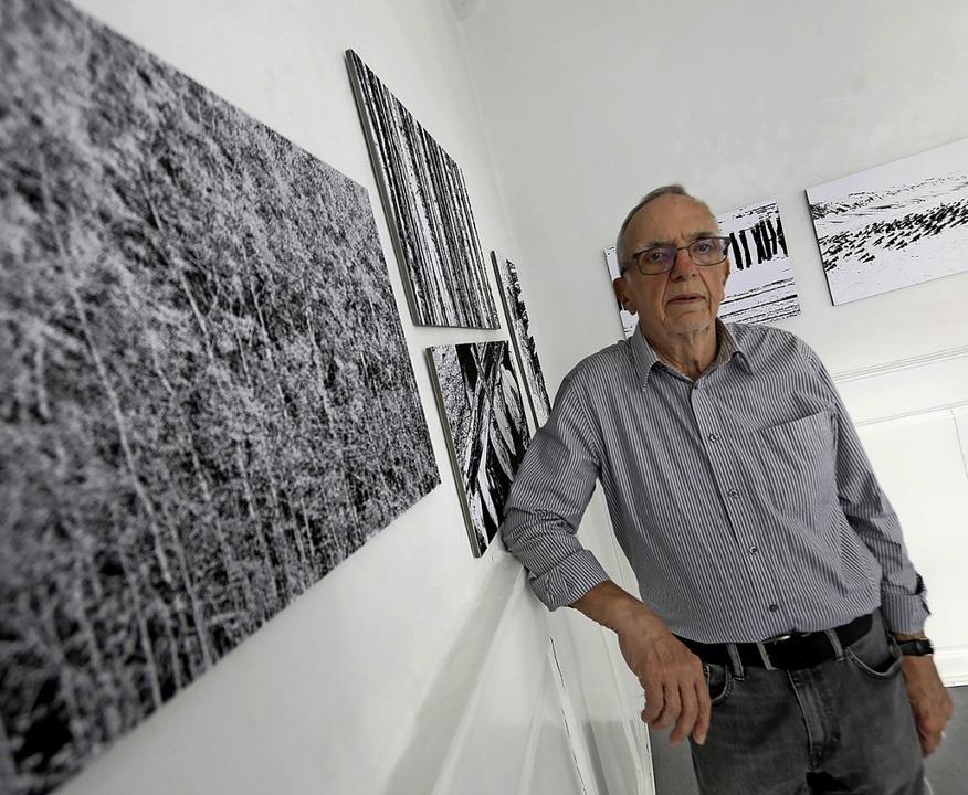 Hans-Jörg Krämer aus Sulz stellt seine...er Galerie L'art pour Lahr aus.   | Foto: Christoph Breithaupt