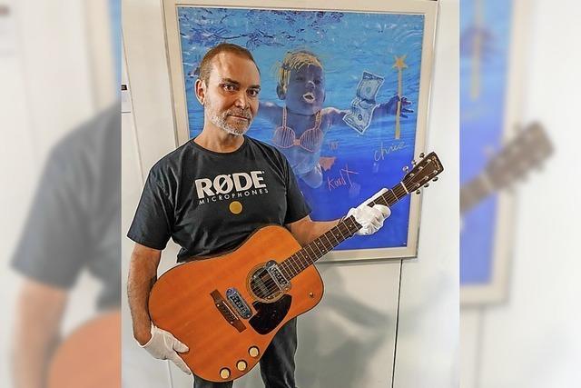 Millionen-Erlös für Gitarre von Kurt Cobain