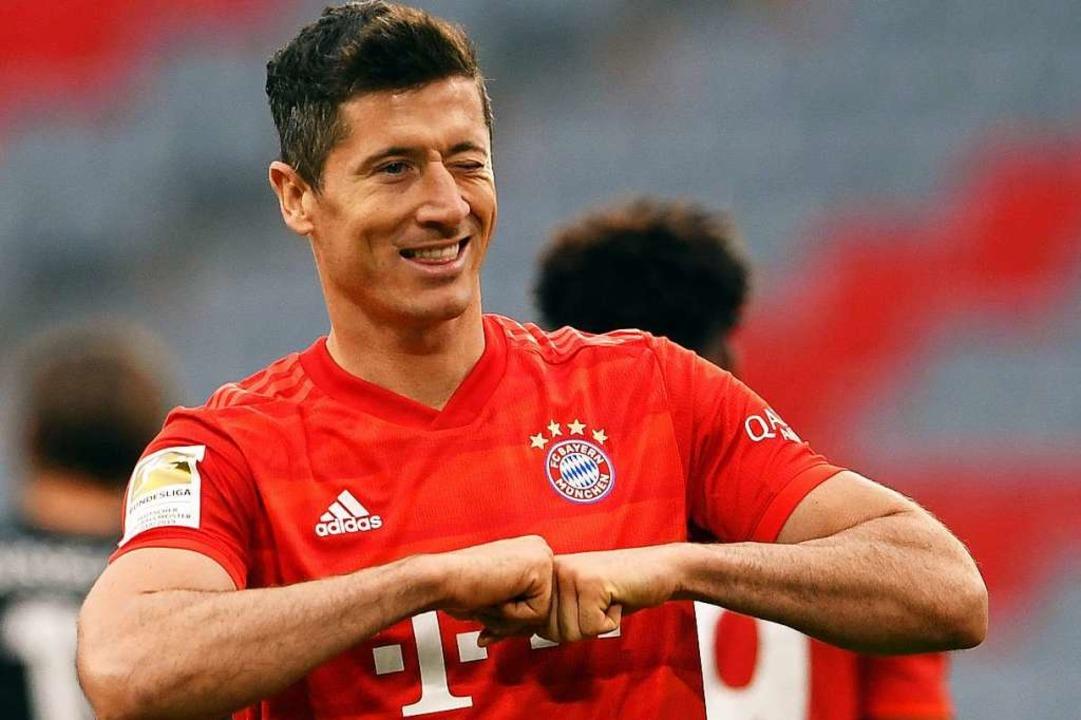 Ein Lewandowski Traum A Niemand Trifft Gegen Freiburg So Oft Wie Der Bayern Star Sc Freiburg Badische Zeitung