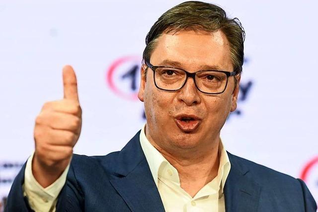 Mitte-Rechts-Partei gewinnt in Serbien, Opposition boykottiert weitgehend