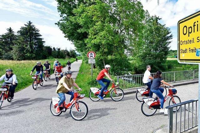 Ab sofort gibt es die Freiburger Leihräder auch am Tuniberg und in Hochdorf