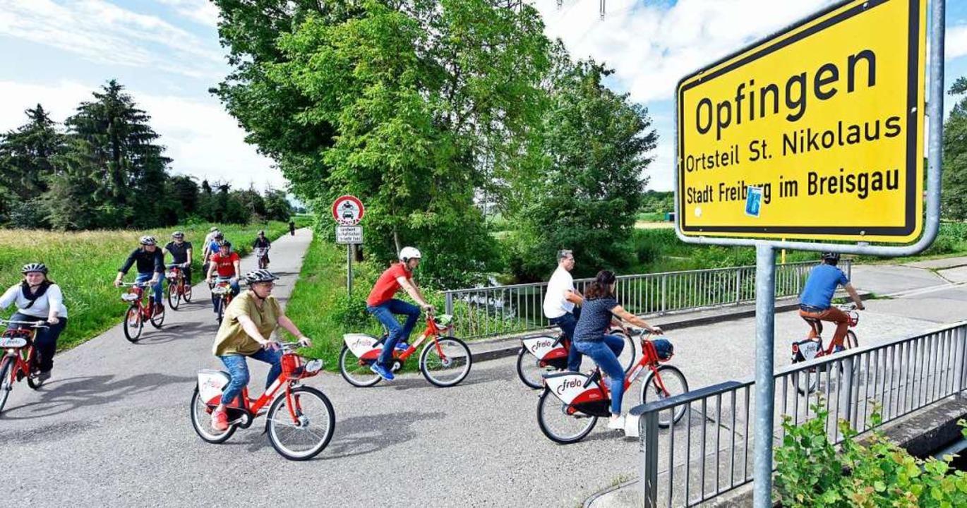 Jetzt auch per Frelo angebunden: Opfin...deren Tuniberg-Gemeinden und Hochdorf.  | Foto: Michael Bamberger