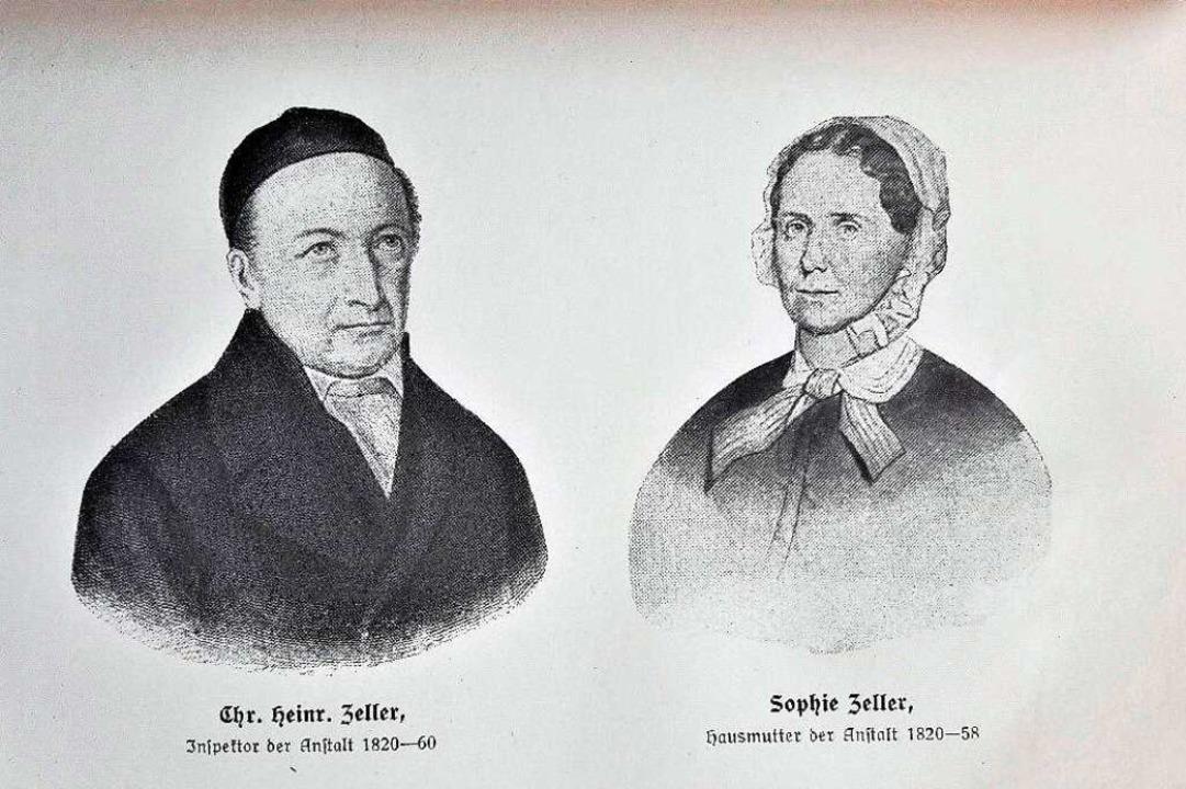 Eine Darstellung von Christian Heinrich und Sophie Zeller  | Foto: zvG Michael Kicherer