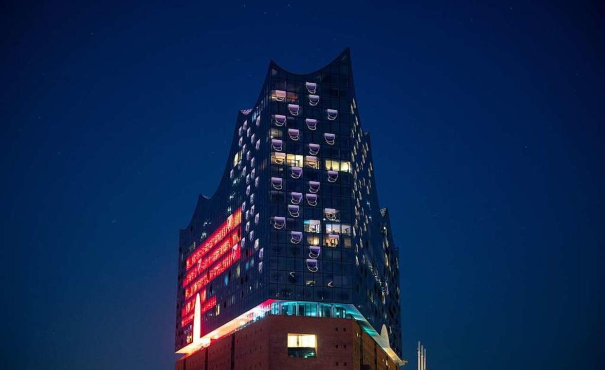 Ein Teil der Elbphilharmonie  | Foto: Daniel Reinhardt (dpa)
