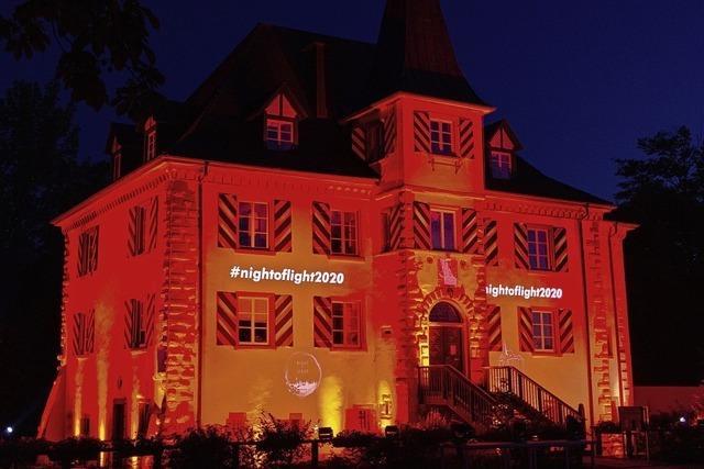 Illuminiertes Wasserschloss
