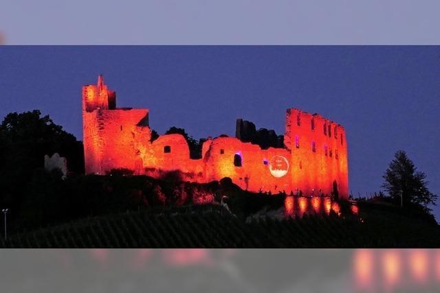Die Staufener Burg stand für einen Abend im Rotlichtviertel