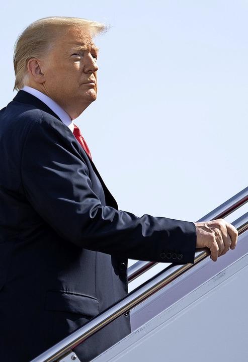 Amerikanische Jobs will Donald Trump derzeit für Landsleute reservieren.  | Foto: SAUL LOEB (AFP)