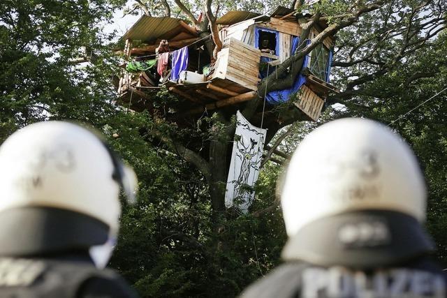Polizei entfernt Barrikaden im Hambacher Forst