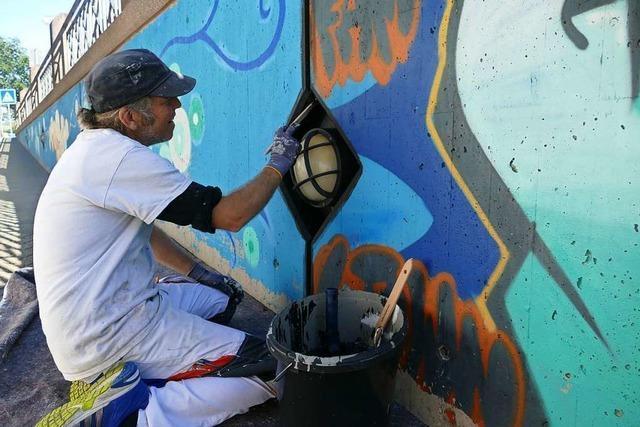 Künstler ist selbst auf Aussehen der Rathaus-Unterführung neugierig
