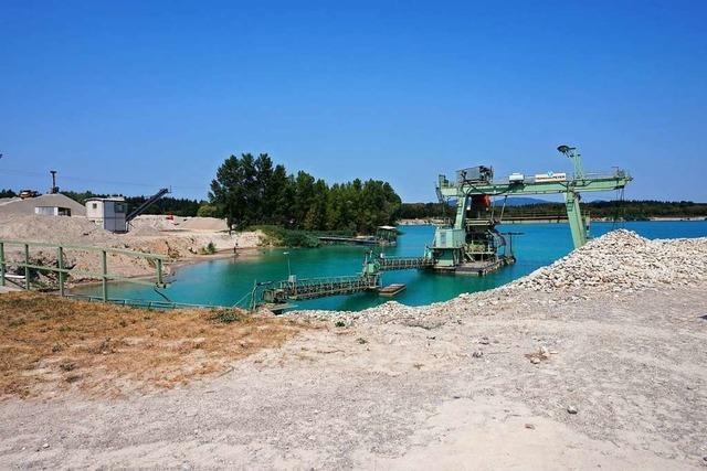 Wird der Rimsinger Baggersee für den Kiesabbau um 1,9 Hektar erweitert?