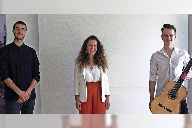 Unterstützung für drei junge Musiker