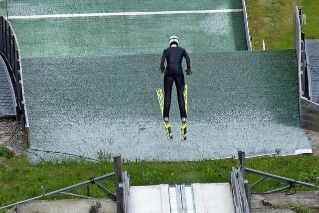 Zäh erkämpftes Fluggefühl auf der Skisprungschanze