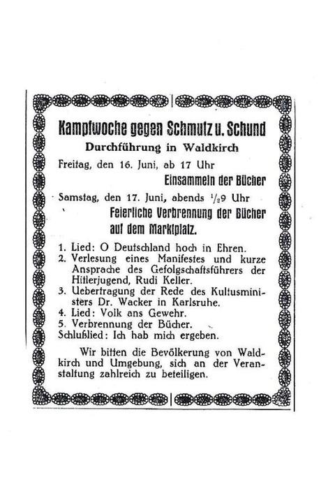 Zeitungsausschnitt von 1933  | Foto: Archiv Wolfram Wette