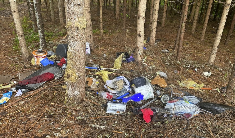 Müll im Wald? Dieser Anblick ärgerte v...n Waldspaziergänger in Höchenschwand.   | Foto: Cornelia Liebwein