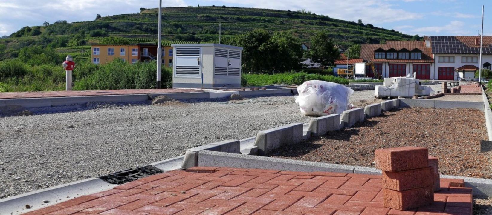 Die Erschließung des Baugebietes Kaibengasse in Ihringen kommt voran.  | Foto: Claudia Müller