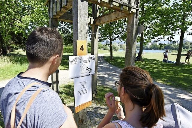 Im Freiburger Seepark gibt es nun einen Geschichtenweg für Familien