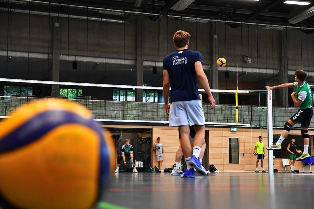 Technisches Grundlagentraining auf dre...ldern absolvieren die FT-Volleyballer.  | Foto: Achim Keller