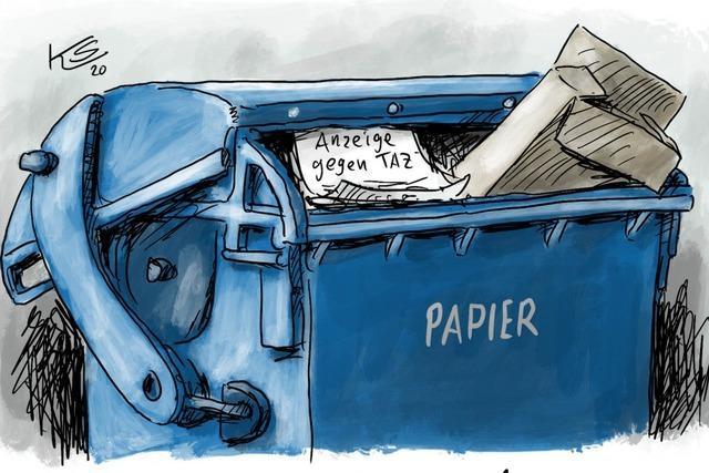 Auf dem Müll gelandet