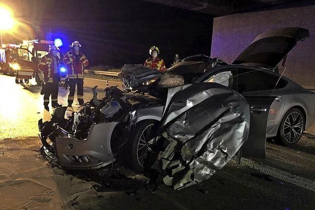 Schwerer Unfall auf der A 5