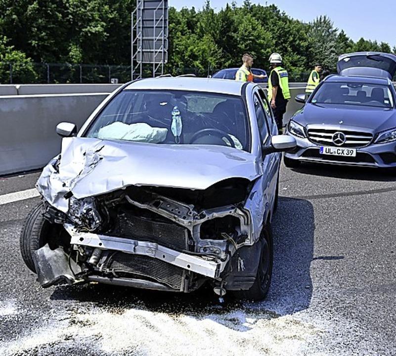 Bei dem Unfall wurden zwei Personen verletzt.   | Foto: Wolfgang Künstle