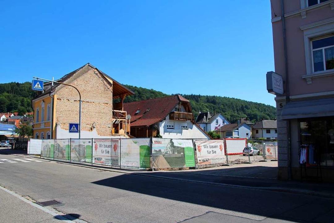 An dieser Stelle soll das geplante Stadthaus entstehen.    Foto: Reinhard Cremer